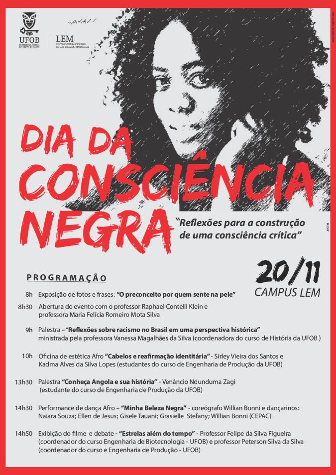 Ufob Dia Da Consciência Negra Tem Programação Repleta De